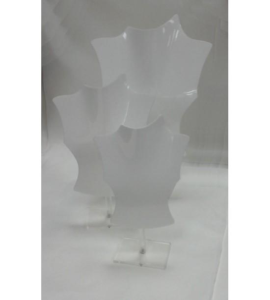 Colli Kit 3pz in PVC Bianco con Supporto