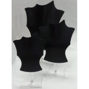 Colli Kit 3pz in PVC Nero con Supporto